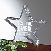 Personalized Father Award - Best Dad Ever Acrylic Star Keepsake - 16020