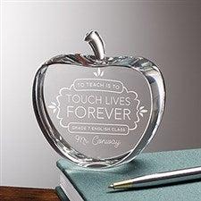 Personalized Teacher Keepsake Award - Teaching Touches Lives - 16023