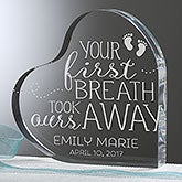 Personalized Baby Heart Keepsake - You Took Our Breath Away - 16025