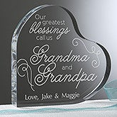 Personalized Grandparent Heart Keepsake - To Be A Grandparent - 16027