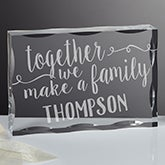 Personalized Family Keepsake Block - Together We Make A Family - 16031