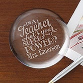 Personalized Teacher Crystal Paperweight - Teacher Quotes - 16038