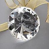 Engraved Diamond Keepsake - Make Your Life Sparkle - 16042