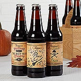 Personalized Beer Bottle Labels Set Of 6 - Vintage Halloween - 16051
