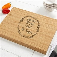 Personalized Bamboo Cutting Board - Count Your Blessings - 16052