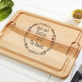 Personalized Maple Cutting Board - Count Your Blessings - 16053