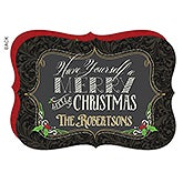 Personalized Flat Christmas Cards - Merry Little Christmas - 16080