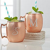 Monogrammed Moscow Mule Copper Mugs - Initial Impressions - 16086