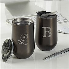 Personalized 14 Oz. Sleek Travel Tumbler - Initial Impressions - 16088