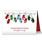 Personalized Family Christmas Cards - Warm Mitten - 16091