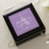 Personalized Girls Jewelry Box - My Name Means - 16093