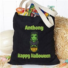 Personalized Halloween Treat Bag - Halloween Characters - 16105
