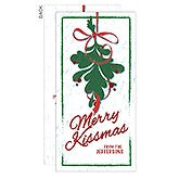 Personalized Christmas Postcard - MistleToe Merry Kissmas - 16107