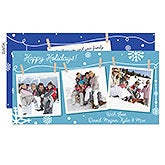 Personalized Photo Christmas Postcards - Christmas Photo Clothesline - 16109