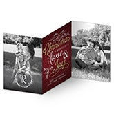 Personalized 3 Panel Photo Christmas Cards - Christmas Joy - 16114