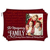 Personalized Christmas Flat Cards - Family Is Love - 16123