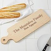 Personalized Maple Leaf Artisan Bread Board - 16125D