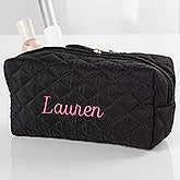 Embroidered Quilted Cosmetic Bag - 16130