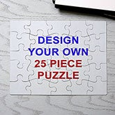 Design Your Own Personalized 25 Piece Rectangle Puzzle - 16144