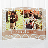 Personalized Photo Collage Curved Glass - Geometric - 16146