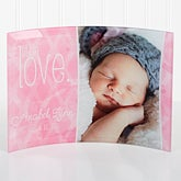 Personalized Baby Photo Curved Glass - Little Love - 16148