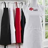 Embroidered Apron - Kiss The Cook - 16152