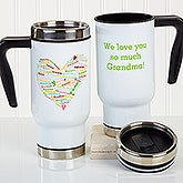 Personalized Commuter Mug - Heart Of Love - 16165