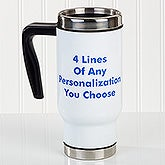 Personalized Commuter Travel Mug - You Name It - 16170