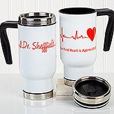 Personalized Commuter Travel Mug - The Heart Of Caring - 16176