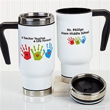 Personalized Teacher Commuter Travel Mug - Touches A Life - 16178