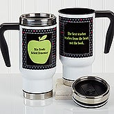 Personalized Teacher Commuter Travel Mug - Teacher's Green Apple - 16179
