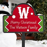 Personalized Christmas Yard Stake - Jolly Jester - 16193