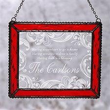 Personalized Christmas Suncatcher - Christmas Blessings - 16197