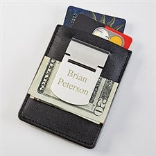 Zippo Engraved Name Money Clip & Credit Card Case - 16199