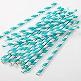 Teal Paper Straws - Pack of 25 - 16205