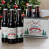 Personalized Christmas Beer Bottle Labels Set Of 6 - 16210