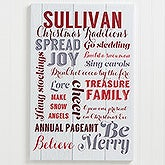 Personalized Canvas Prints - Holiday Family Traditions - 16211