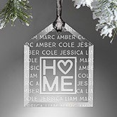 Personalized Family Ornament - Home Is Love - 16222