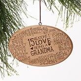 Personalized Wood Ornament - Reasons Why For Her - 16226