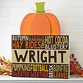 Personalized Pumpkin Tabletop Decor - Fall Fun - 16232