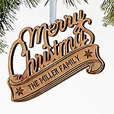 Personalized Wood Christmas Ornaments - Merry Christmas - 16237