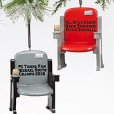 Personalized Sports Stadium Seat Christmas Ornaments - 16246