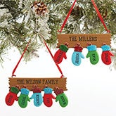 Personalized Family Christmas Ornaments - Warm Mitten Family - 16248