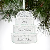 Personalized Christmas Ornaments - Wedding Cake - 16252