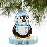 Personalized Penguin Christmas Ornaments - 16255