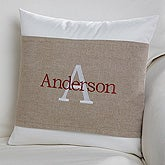 Personalized Throw Pillow with Wrap - Family Initial - 16256