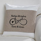 Personalized Wedding Throw Pillow - Warmhearted Wedding - 16258