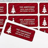 Personalized Holiday Return Address Labels - Christmas Icons - 16261