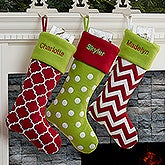 Personalized Felt Christmas Stockings - Holiday Tidings - 16276