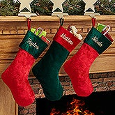 Personalized Christmas Stocking - Holiday Splendor - 16277